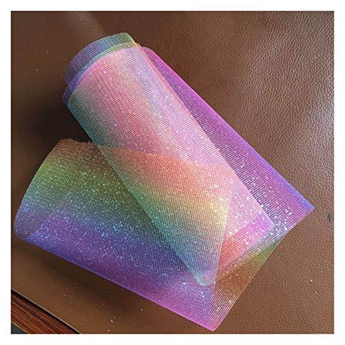 XXWW Décorations de Mariage 10 Yards Rainbow Tulle Reel Jupe Bricolage Jupe de Table Organza Couleur Tissu Tulle Rouleau de Bricolage de Mariage d'arc Décoration (Color : Rainbow 15cm)