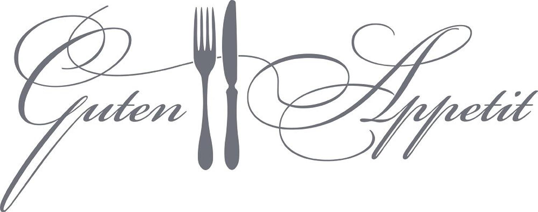 GRAZDesign 620573_50_071 Wandtattoo Küche Guten Appetit mit Besteck   Küchen-Aufkleber und Tattoo für Deine Wände - Schränke - Fliesen - Möbel   für Restaurant und Bars (127x50cm  071 grau) B00OOY244I