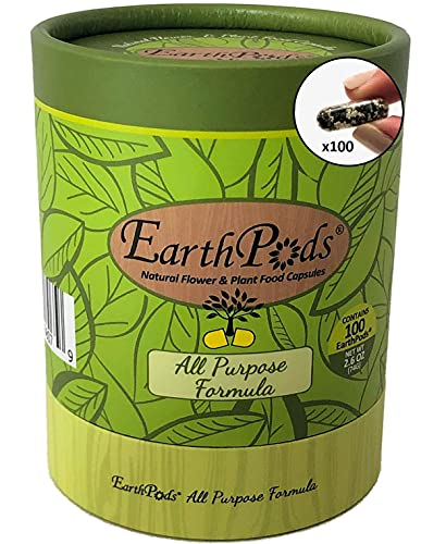 EarthPods Premium Concentrated Indoor Plant Food Spikes (100 Count) – Easy to Use – Organic Time Release Fertilizer – All Purpose – Great for Houseplants (NO Smell, Ecofriendly, Made in USA)