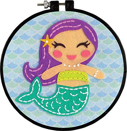 Dimensions Learn-A-Craft Felt Applique Kid's Craft, Mermaid