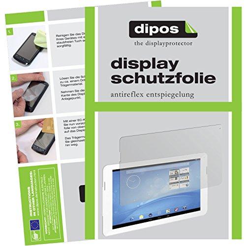 dipos I 2X Schutzfolie matt kompatibel mit Trekstor Surftab Breeze 10.1 Quad Folie Bildschirmschutzfolie