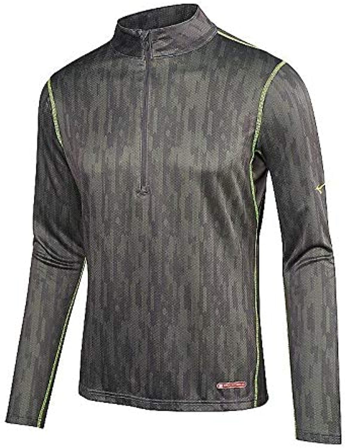Mizuno Running Men 's Breath Thermo Half Zip Base Layer