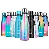UMI. by Amazon - Botella Térmica 500ml, Botella Termo Agua Acero Inoxidable,...