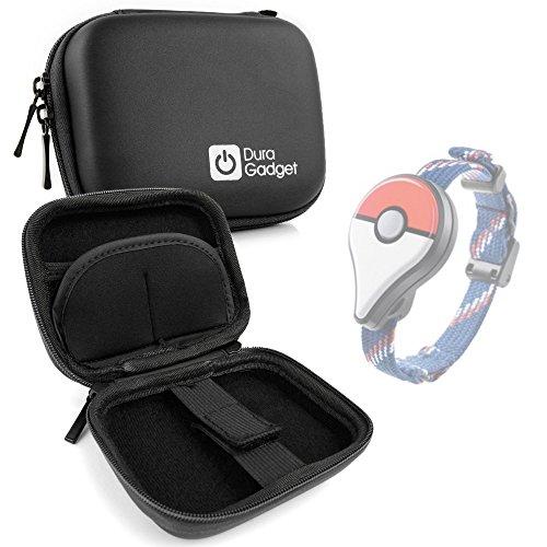 DURAGADGET Etui Housse Rigide Noir pour Montre Pokémon GO Plus Bracelet connecté sans Fil (Montre Non Incluse) - Mousqueton Amovible