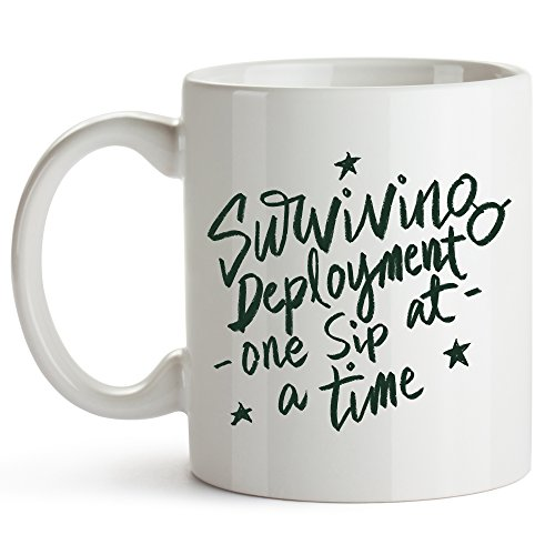 Younique Designs Deployment Coffee Mug, 11 Ounces, Military Deployment Cup for Husband for Him for Wife