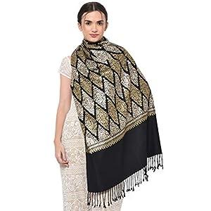 "Weavers Villa Women's Kashmiri Aari Embroided Cashmilon Stoles, Shawls, Wraps (SIZE: 30"" X 80"") 11 51WXkfiFmVL. SL500 . SS300"
