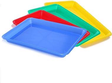 EXCEART Lot de 5 Plateaux en Plastique pour Activités pour Enfants Plateau de Rangement pour Artisanat d'art Scolaire Per