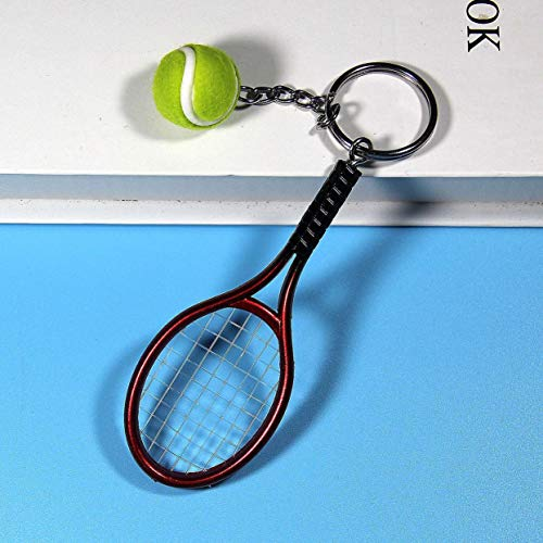 Preisvergleich Produktbild Tree-on-Life Mode Mini Tennisschläger Anhänger Schlüsselbund Schlüsselanhänger Ring Finder Holer Zubehör Für Liebhaber Tag Geschenke