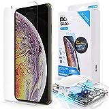 Dome Glass iPhone XS MAX Protector Pantalla, 3D Borde Curvo Cristal Templado [Tecnología de Dispersión Líquida] Fácil de Instalar Kit por Whitestone para Apple iPhone XS MAX