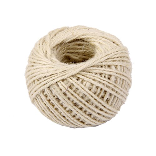 Práctica cuerda de cáñamo de regalo 50 m 2 mm multi uso cuerda de yute para manualidades, embalaje, regalos, envolver