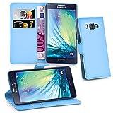 Cadorabo Funda Libro para Samsung Galaxy A5 2015 en Azul Pastel - Cubierta Proteccíon con Cierre Magnético, Tarjetero y Función de Suporte - Etui Case Cover Carcasa