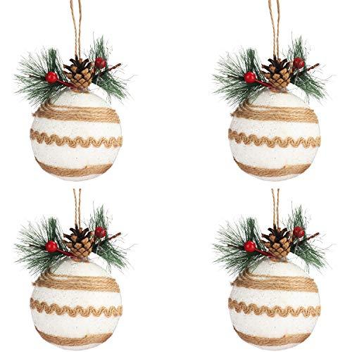 BELLE VOUS Bola Navidad (4 Piezas) Adornos Árbol de Navidad