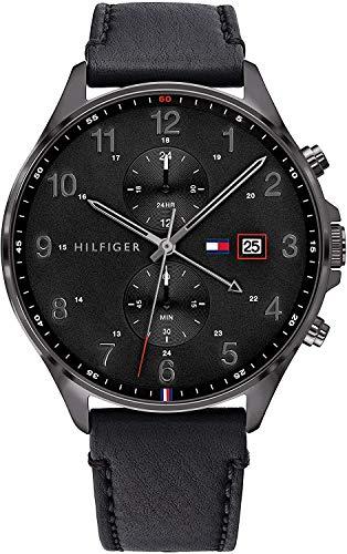 Tommy Hilfiger Herren Analoger Quarz Uhr mit Leder Armband 1791711