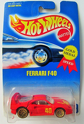 FERRARI F40 Hot Wheels 1991 Red Ferrari F40 1:64 Scale Collectible Die Cast Metal Toy Car Model 69