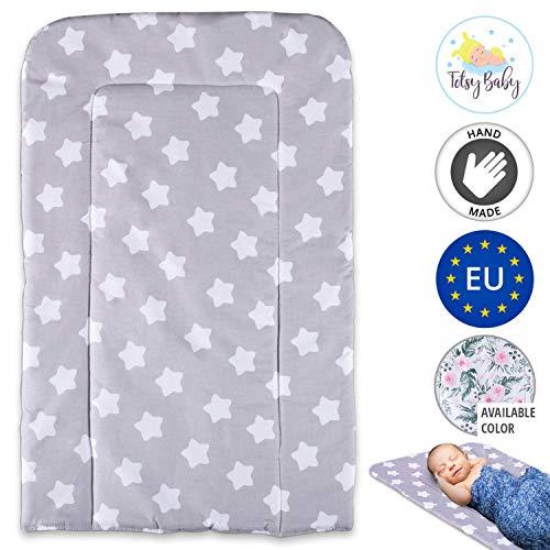 Wickelauflage abwaschbar Auflage für Wickelkommode - Baby Wickelunterlage Wickeltisch Unterlage weiche Wickeltischauflage changing mat 50 x 70