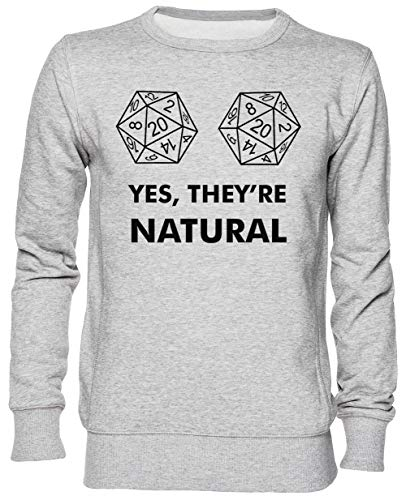 Yes They're Natural Gris Jersey Sudadera con Capucha Unisexo Hombre Mujer Tamaño L Grey Unisex Hoodie Size L