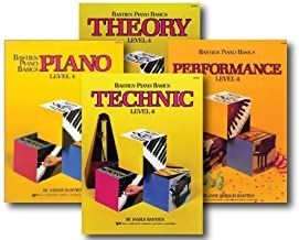 Bastien Piano Basics Level 4 - Four Book Set - Includes Level 4 Piano, Theory, Technic, and Performance Books