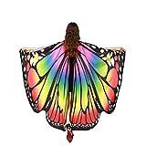 TMEOG Chal de Alas de Mariposa, Duendecillo Disfraz Capa de Muchacha Accesorio Disfraz Playa Fiesta para Adulto Mujer (A_CH)