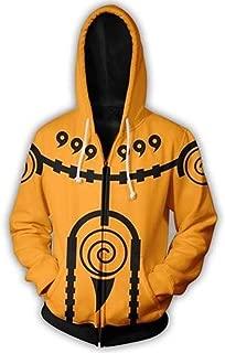 Naruto Hoodie,Men Naruto Pullover Zip Hoodie Sweatshirt with Kangaroo Pocket