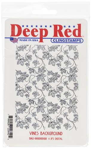 Deep Red Stamps Rouge Profond s'accrochent Fond de Timbre-vignes