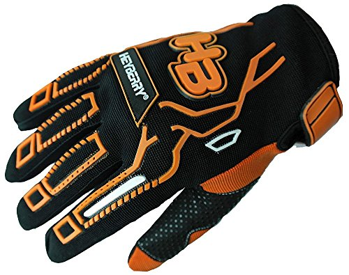Heyberry Motocross MTB MX Handschuhe schwarz orange Gr. L