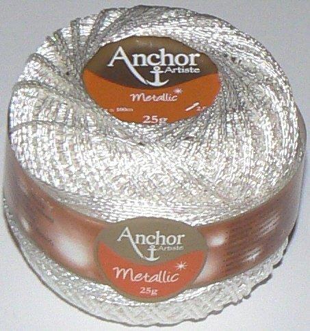 Anchor 25g Artiste Metallic - Farbe: 304 - weiß