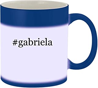 #gabriela - 11oz Hashtag Magic Color Changing Mug, Blue