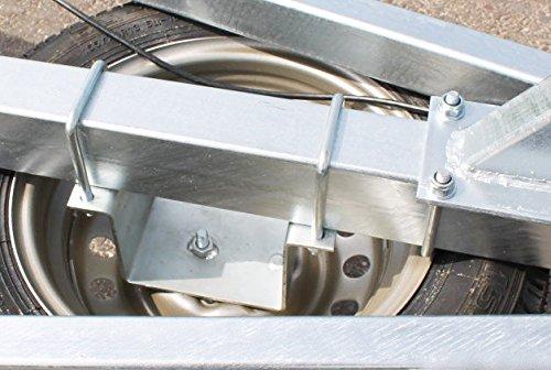 Radhalter Ersatzrad Halter Metall verzinkt für Boot Anhänger Trailer Zubehör Halterung