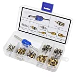 OCR Air Conditioning A/C Valve Core R12 R134a Automotive Air Conditioning Refrigeration Tire Valve Stem Cores Remover tool Assortment Kit (40PCS)