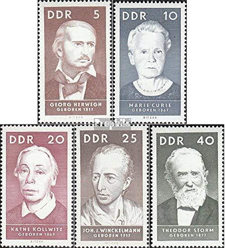 Prophila Collection DDR 1293-1297 (kompl.Ausg.) 1967 Berühmte Persönlichkeiten (I) (Briefmarken für...
