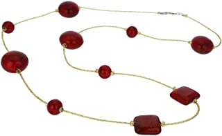 Murano Glass Lucia Necklace - Ruby Red