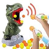 Tacobear Dinosaurio Juguete de Tiro para Niños Objetivo de Tiro con Pistola Power Popper Bola Suave Puntuación LCD Grabación Alegría Sonido Bola Popper Juego de Batalla Regalo Navidad para Niños
