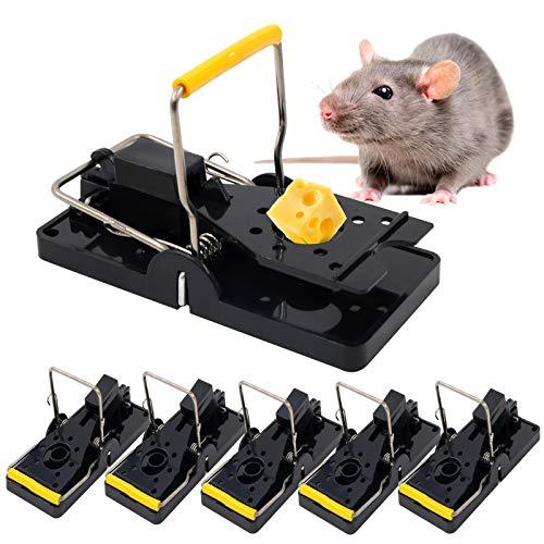 OOTO Rattenfalle 6er Set, Mausefalle Schlagfalle Mit Hoher Fangrate, Profi Mäusefalle Schlagfalle Rattenfalle, Wiederverwendbar Mouse Trap Profi Mausefallen In Haus Und Garten (Schwarz)