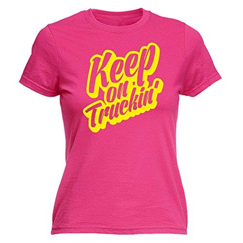 123t Women's Keep On Truckin' Truck Lorry Driver Job Profession Delivery Fitted T-Shirt Womens t...