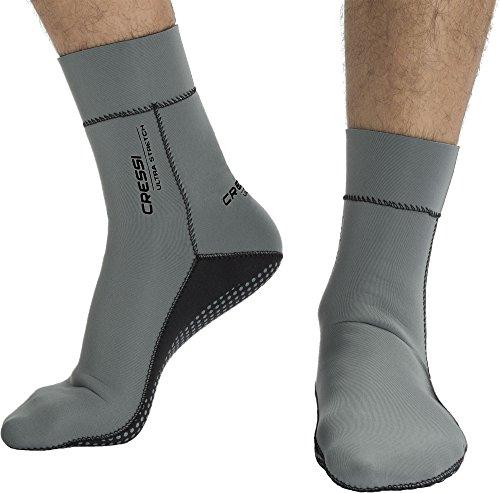 Cressi Ultra Stretch Neoprene Socks Neoprensocken, Grau/Schwarz, Small