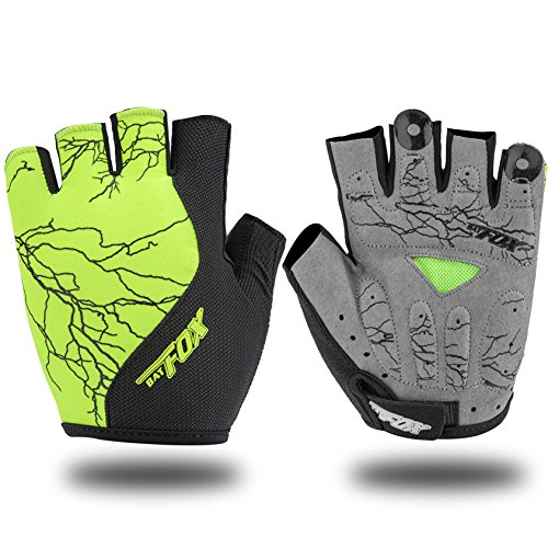 Shinmax Full Finger Mountain Road Guantes de Bicicleta, Unisex Winter Gel Resistencia Warm Gloves Riding Ciclismo Ciclismo Bicicleta Guantes (Medio Verde, XL)