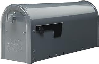 Gibraltar Mailboxes Edson Medium Capacity Galvanized Steel Gray, Post-Mount Mailbox, EM110GM0