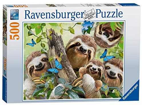 Ravensburger Puzzle 14790 - Faultier Selfie - 500 Teile
