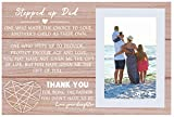 Photo Frame Gift for Stepdad Stepfather -Bonus Dad Gift from Daughter...