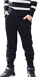 Boys Fleece Sweatpants Warm Joggers Pants Unisex Casual Elastic 2-12 Trousers