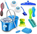 SHIVONIC Combo Classic Bucket Magic Spin Cleaning Bucket Mop Mop Set, Cleaning