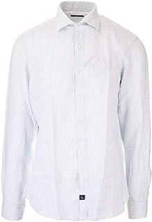 ラグジュアリーファッション | Fay メンズ NCMA140259LRUA0328 ホワイト リネン シャツ | 春夏20