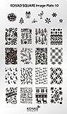 KONAD Placa de Diseños Rectangular 10 para Estampado de Uñas