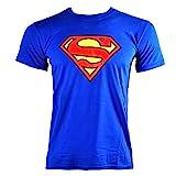 Officiellement Marchandises Sous Licence SUPERMAN - LOGO T-Shirt (Bleu), Large