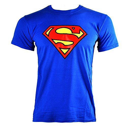 Superman T Shirt DC Comics Emblem (Blu) - Large