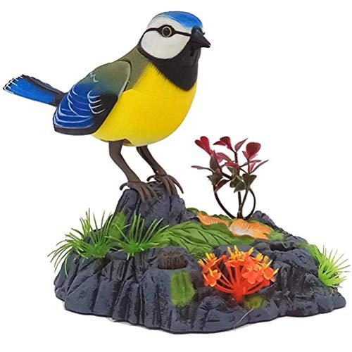 Koowaa Uccello cinguettante Che Canta, parlante elettronico Che ripete pappagalli Suoni e movimenti realistici - Pronuncia di attivazione del sensore di Movimento per Bambini