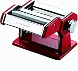 Ovente Pasta Maker Machine Stainless Steel with 7 Positions Thickness Setting (0.5 to 3 mm), 3 Premium Attachments Includes Hand Crank Roller, Noodle Cutter and Countertop Clamp, Silver (PA515S)