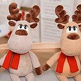 Astrryfarion Plüschschal Rentierpuppe Weihnachten Big Deer Elk Weiche Gefüllte Puppe Spielzeug Home Schlafsofa Party Decor Weihnachten Geburtstag Kinder Mädchen Geschenk Hellbraun