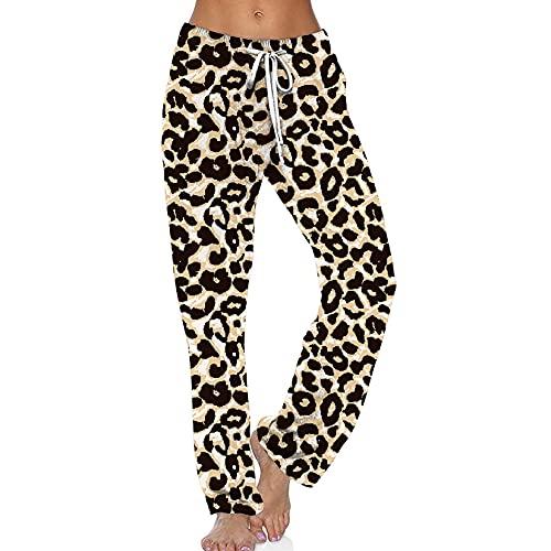 WXMSJN Ropa De Mujer Pantalones Casuales con CordóN Estampado Degradado Pantalones