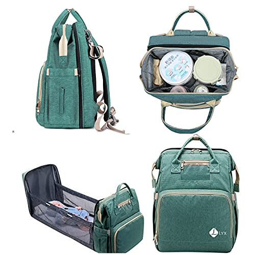 3 in 1 Diaper Bag – Multifunctional Baby Changing Station – Versatile and Practical Accessory for Parents – Lightweight and Portable Bassinet –Large Storage Capacity – Baby Travel Bag with USB Charger